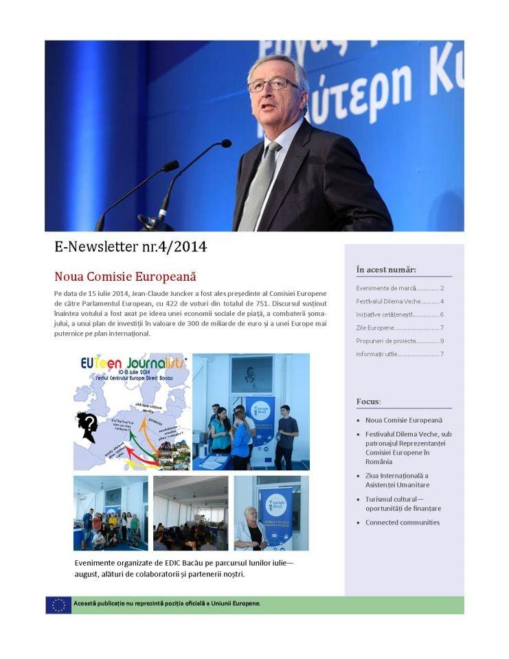 E-Buletin de informare 4/2014