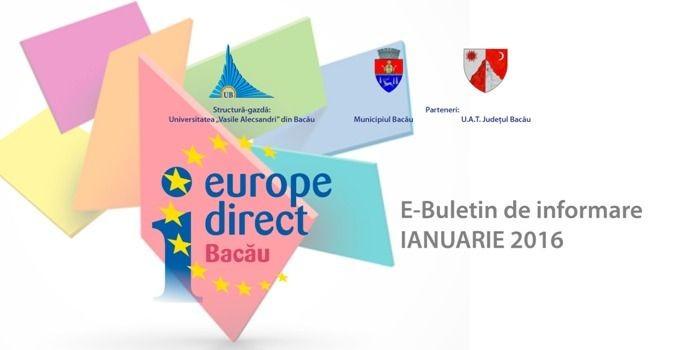 E-Buletin de informare 1/2016